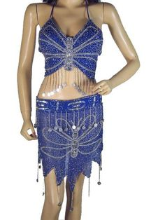 Blue Bellydancing Costume Dance Dress Clothing « Dress Adds Everyday