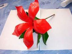 Adornos de navidad flor de pascua - 04/10 Manualidades con botellas de plástico