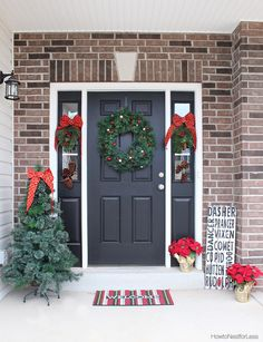 Decorating the Front Porch for the Holidays by Ace Blogger @nestforless