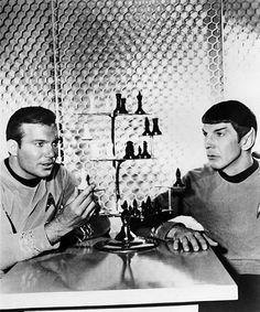 Kirk and Spock playing chess