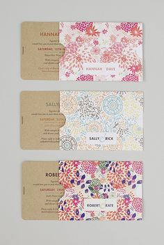 For something totally different but beautiful. I love all the colours. Then the invite is actually just nice and simple. Swan Collection - Blog - Seven Swans Wedding Stationery