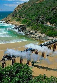 South Africa Travel Inspiration - Wilderness, Kaaimans Bridge, The Garden Route, South Africa. Beautiful World, Beautiful Places, South African Railways, Namibia, Out Of Africa, Kenya Africa, Africa Art, Garden Route, Cape Town
