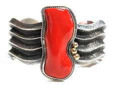 Aaron Anderson – HUGE Branch Coral Cuff – Silver & Gold