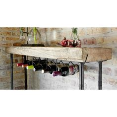 Rustic Wine Table & Rack