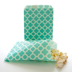 Teal Blue Spanish Tile Bags (25 Pack) - Party Goodie Bags, Birthday Loot Bags, Wedding Paper Bags by FoodwithFashion on Etsy https://www.etsy.com/listing/246769829/teal-blue-spanish-tile-bags-25-pack