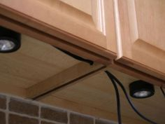 Discover the dramatic accent of under-cabinet lighting.