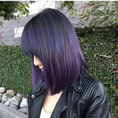 Let's talk about this Dark Violet. Isn't it magical?  #hair #hairenvy #hairstyles #haircolor #violet #darkviolet #purplehair #newandnow #inspiration #maneinterest
