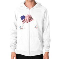 American Ninja Warrior Zip Hoodie (on man) Shirt