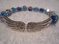 Rhinestone angel bracelet with multi color by DivineDesignsByLiz, $23.95
