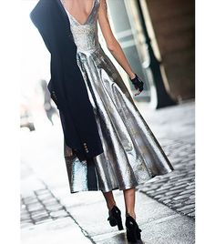 @Who What Wear - Tip: Wear a metallic dress during the day.