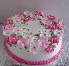 New Cake Decorating Buttercream Design Fondant Ideas Cake Decorating Frosting, Cake Decorating Designs, Cake Decorating Videos, Cake Decorating Techniques, Cake Designs, Buttercream Designs, Buttercream Flower Cake, Cake Icing, Cupcake Cakes
