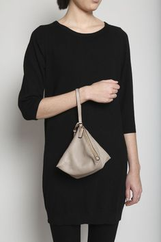 Jil Sander pyramid shape leather bag, $510.  Saw these in the store, they are super cool.  On my DIY list.