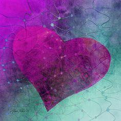 Heart Connections Two copyright Ann Powell #art #hearts #prints #annpowellart