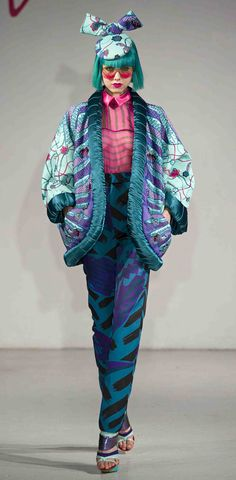 Zandra Rhodes Fall 2012 |Pinned from PinTo for iPad|