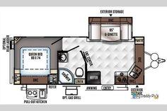 Floorplan - 2017 Forest River RV Flagstaff Micro Lite 25FKS