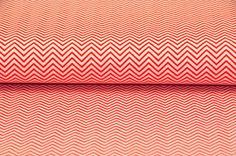 Tissus motifs graphiques, 0,5 m STENZO CHEVRON serpentine rouge/blanc est une création orginale de kleinerStern sur DaWanda