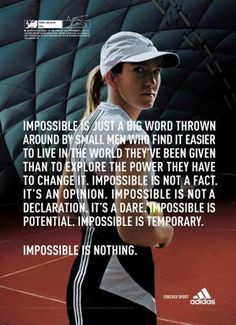 Justine Henin Long Quote....