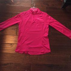 Fuchsia UnderArmour  Quarter Zip Quarter Zip Athletic Top Under Armour Tops Sweatshirts & Hoodies