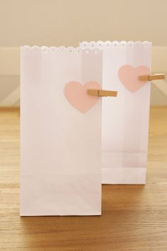 Heart Wedding Favour Bags or Lolly Bags by SunshineandConfetti, $12.50
