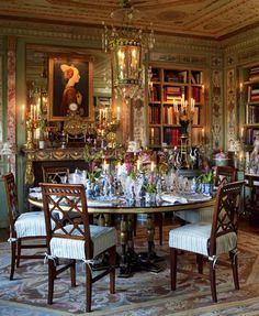 Howard Slatkin's Fifth Avenue apartment overlooking Central Park: [Asmara Blog] 12 Chic Tablescapes & Dining Rooms