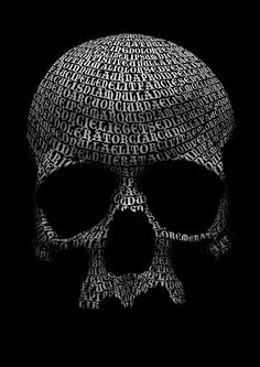Create a creepy skull out of type in Photoshop