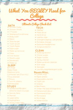 Inspiration Photo of Apartment Needs List Apartment Needs List Ultimate College Dorm Room Checklist What You Actually Need To - Dorm Room 2020 College Dorm List, College Dorm Checklist, College Dorm Essentials, College Dorm Rooms, Apartment Checklist, College Hacks, Uni Checklist, University Checklist, Dorm Room List