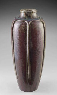 Vase à six côtes verticales Auguste Delaherche - 1892