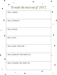 Free New Years Resolutions Printable @DrawntoDIY