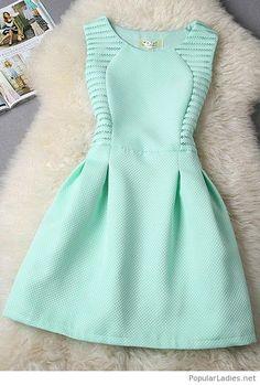 Amazing short mint dress design