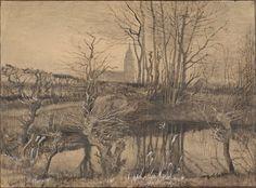 Kingfisher, The - Vincent van Gogh . Created in Nuenen in March, Located at Van Gogh Museum Vincent Van Gogh, Van Gogh Drawings, Van Gogh Paintings, Van Gogh Museum, Art Van, Van Gogh Zeichnungen, Charles Gleyre, Desenhos Van Gogh, Van Gogh Arte