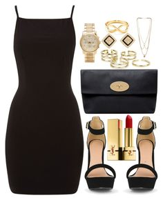 """""""Untitled #273"""" by notchristineanne ❤ liked on Polyvore featuring Tiffany & Co., Mulberry, Michael Kors, Bowie, Tory Burch, MANIAMANIA and Yves Saint Laurent"""