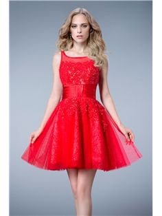 Graceful High-Neck Beading Sleeveless Short/Mini Cocktail Dress Evening Dresses 2014- ericdress.com 10794585