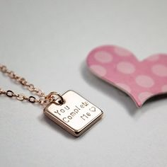 A Square Message necklace  Dainty Bar Handstamped or Diamond Engraving Personalized Plate Delicate Initial Charms Necklace Hand Stamp bridesmaid and Wedding gift *** Find out more about the great product at the image link.Note:It is affiliate link to Amazon.