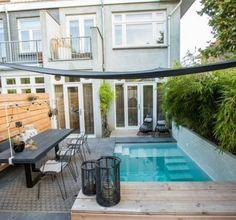 Small Backyard Gardens, Garden Pool, Outdoor Gardens, Backyard Deck Ideas On A Budget, Eindhoven, Mini Piscina, Dutch Gardens, Mini Pool, Jacuzzi Outdoor