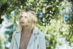 Abbey Lee Kershaw // Behind-the-scenes photos from her DKNY shoot