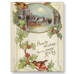 Vintage Christmas Post Card from Zazzle.com
