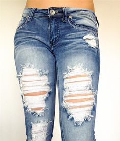 Pokadotlola - Machine Jeans Cutout Destroyed Distressed Women Plus Size Denim, $34.90 (http://www.pokadotlola.com/machine-jeans-cutout-destroyed-distressed-women-plus-size-denim/)