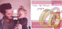 Junio... Tú siempre estas conmigo Papá ♥♥♥ Un niño una Churumbela... Churumbelas Platino & Diamante / Argollas de Matrimonio /Joyería Oro Blanco de 14k / Anillo de Compromiso... #tbt #yonovia #joyería #boda #elartedeammar #Papa #felizdiapapa