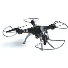 Protocol Galileo Hd Video Drone ($250) ❤ liked on Polyvore featuring men's fashion and silver