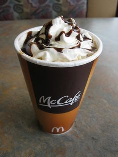 McCafe Care Mocha Latte