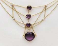 Late Victorian Amethyst Necklace