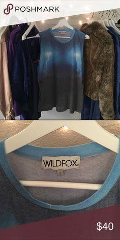 WILDFOX SZ LARGE LONG DESERT STORM TANK SHIRT Awesome top Wildfox Tops