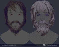 ArtStation - Warrior face_1_All states_2015, Ebrahim Diba