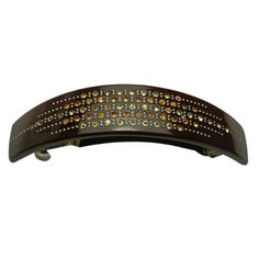 Elegant Starry Rows Crystal Rhinestone Hair Barrette - Chocolate Brown -- Read more reviews of the product by visiting the link on the image.