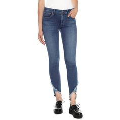 Women's Joe's Icon Tulip Hem Skinny Jeans (1,300 CNY) ❤ liked on Polyvore featuring jeans, michela, denim skinny jeans, skinny fit jeans, stretch denim skinny jeans, joe's jeans and blue jeans