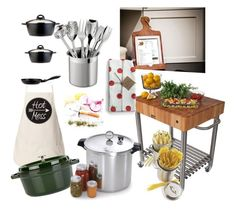 """Ready..set..cook!!"" by furryhugs on Polyvore featuring interior, interiors, interior design, home, home decor, interior decorating, Frontgate, BergHOFF, Staub and Presto"