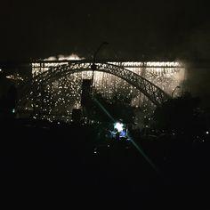 Fogo de artifício de S. João.