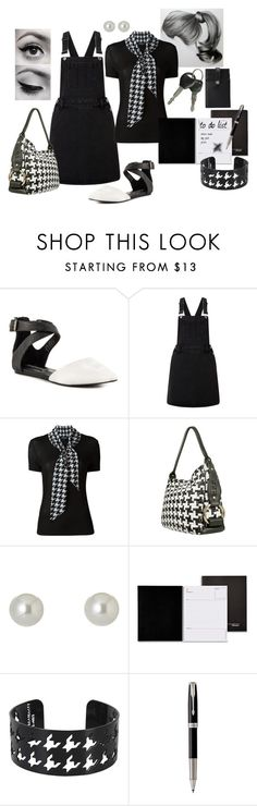 """""""Errands In Houndstooth"""" by j123z ❤ liked on Polyvore featuring Steve Madden, Lipsy, Salvatore Ferragamo, Fontanelli, Givenchy, Mead, Dsquared2, Parker and Want Les Essentiels de la Vie"""