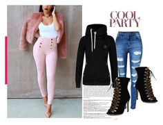 """""""lovelywholesale X party style"""" by lovelywholesale ❤ liked on Polyvore featuring Balmain, love, shoes, jeans, coat and lovelywholesale"""