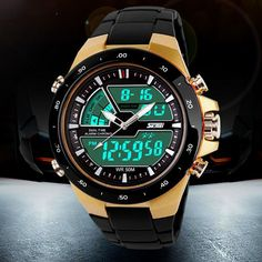 50M Waterproof Mens Sports Watches Relogio Masculino 2016 Hot Men Silicone Sport Watch Reloj S Shockproof Electronic Wristwatch Great, huh?  #shop #beauty #Woman's fashion #Products #Watch